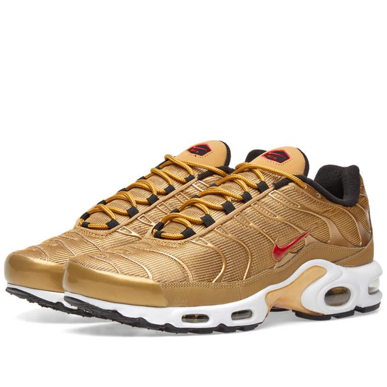 Gk9e MensWomens Nike Air Max Plus TN Ultra Shoes WhiteGold 898015 013 Best