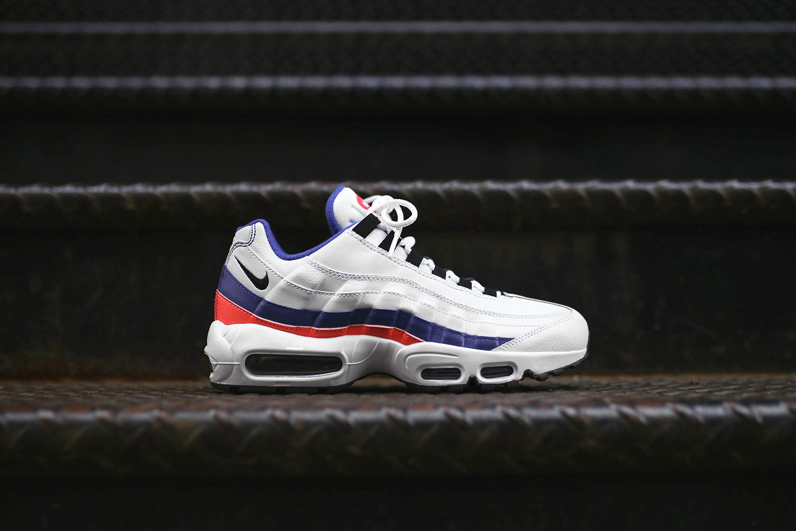 12649dd7e0 Very Goods | Nike Air Max 95 Essential - White / Blue / Red – Kith