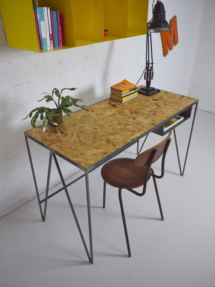 Very Goods   Study desk   steel with OSB top    New   Modern British  Furniture. Very Goods   Study desk   steel with OSB top    New   Modern