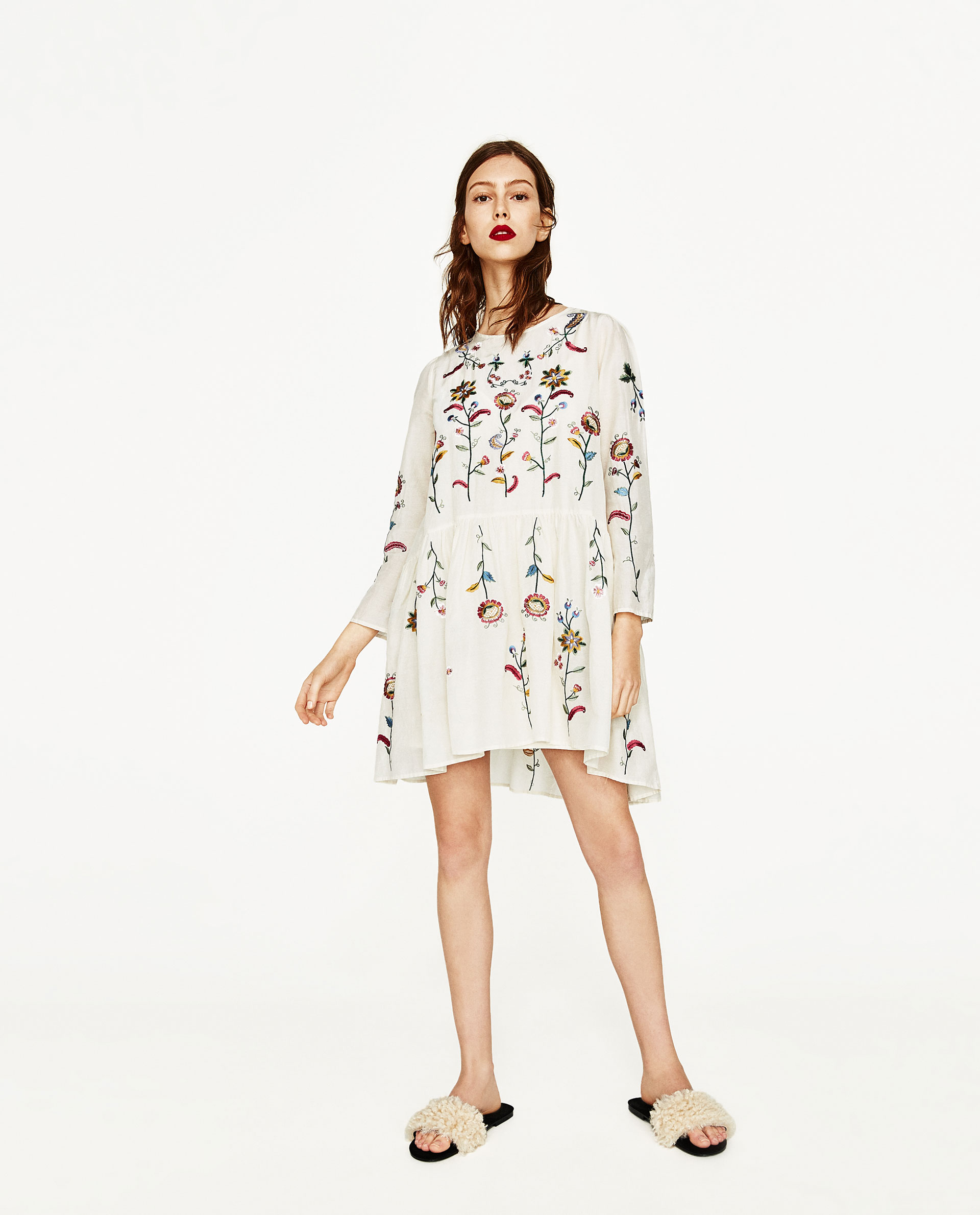 Very Goods Silk Dress With Flowers Embroidery View All Dresses