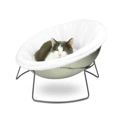 Astounding Hepper Satellite Lounge White Cat Cat Bed Dog Dog Bed Hepper Modern Pet Sleep Beds Hepper Customarchery Wood Chair Design Ideas Customarcherynet