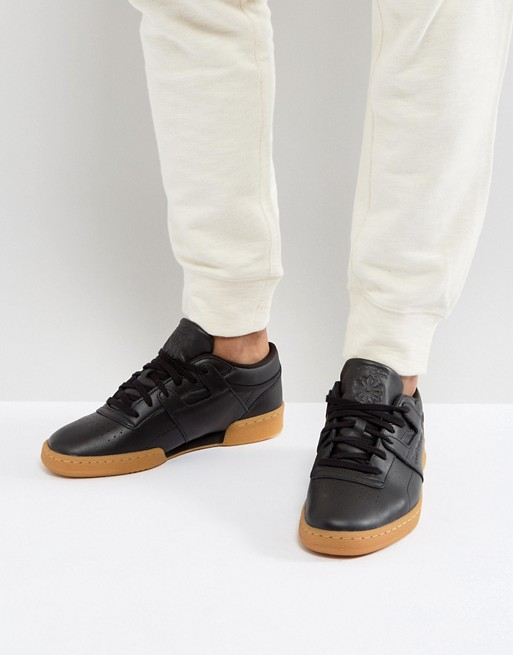 0435109771 Very Goods | Reebok | Reebok Club Workout Gum Sole Trainers In Black ...