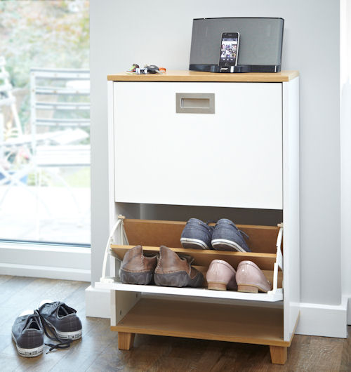 Very Goods | Merton Shoe Storage Cabinet   2 Drawer   Shoe Cupboards | Shoe  Storage Benches | Shoe Cabinets