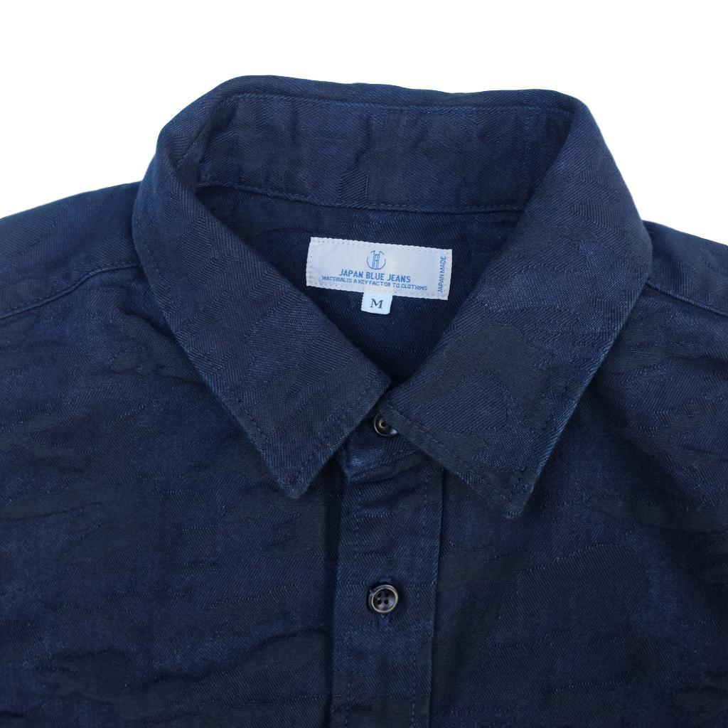 revendeur 1df4e ce6ba Very Goods   Japan Blue Overdye Indigo Camo Jacquard Shirt ...