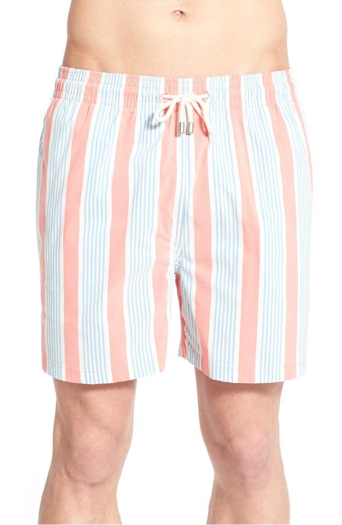 09ac42c1d0 Very Goods   Solid & Striped 'Classic Stripe' Swim Trunks   Nordstrom
