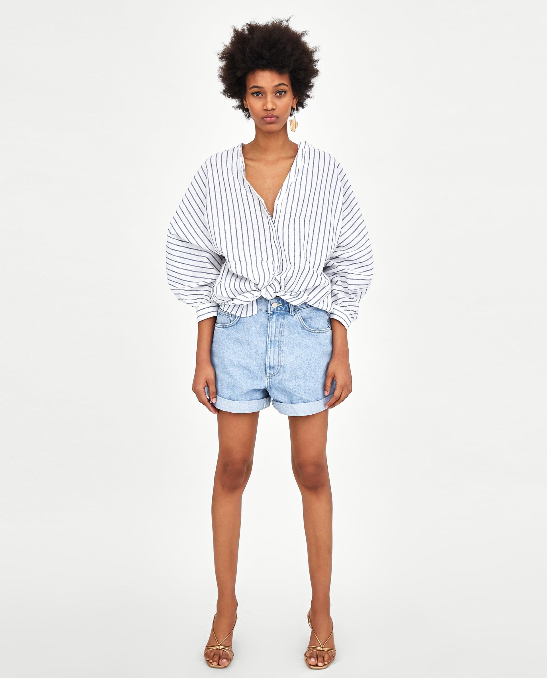 070b6b7e27 Very Goods | MOM - FIT BERMUDA SHORTS-Shorts and skirts-DENIM-WOMAN | ZARA  United States