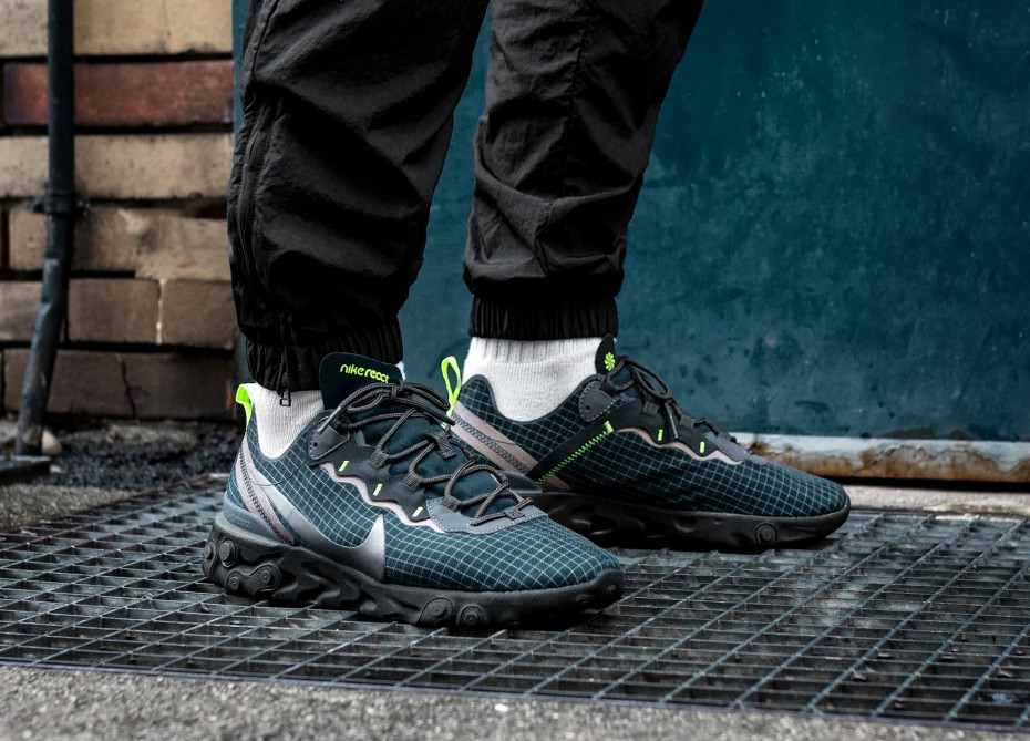 cheap price buying now best authentic Nike React Element 55 (Armory Navy / Metallic Dark Grey - Volt) |  asphaltgold