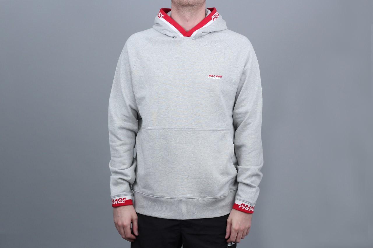8e68b56dc861 Palace Splitter Hood Grey Marl   Red-White from Slam City Skates London UK  ...