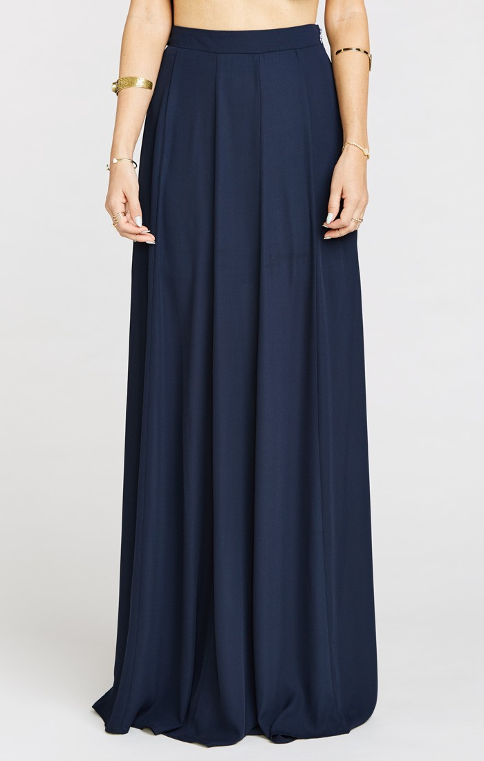 Very Goods | Princess Ariel Ballgown Maxi Skirt ~ Rich Navy Crisp ...