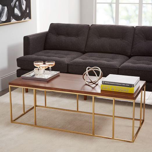 Very Goods Grid Frame Coffee Table West Elm