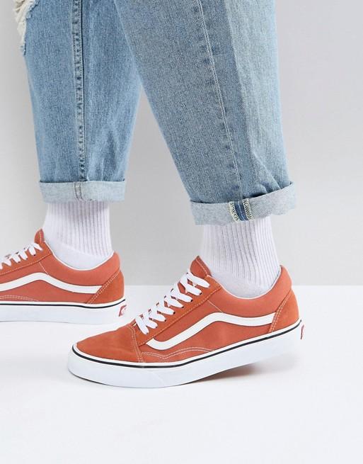 Top Vans arancioni Vans Old Skool Scarpe Vans Donna Vans Old