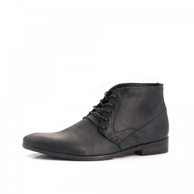 Very Goods | J Shoes Byron Men's Black Leather George Boots B0301 ...
