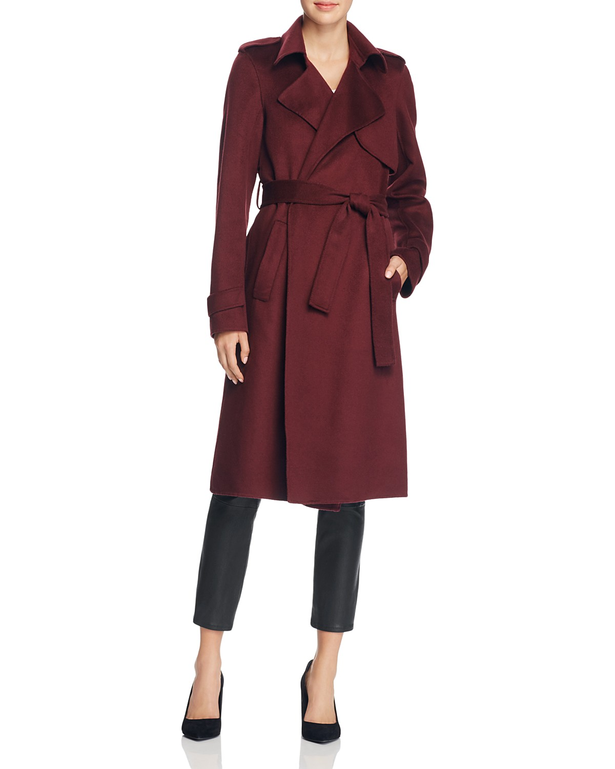 73a5a38db58 Very Goods | Theory Oaklane Wool-Blend Trench Coat | Bloomingdale's