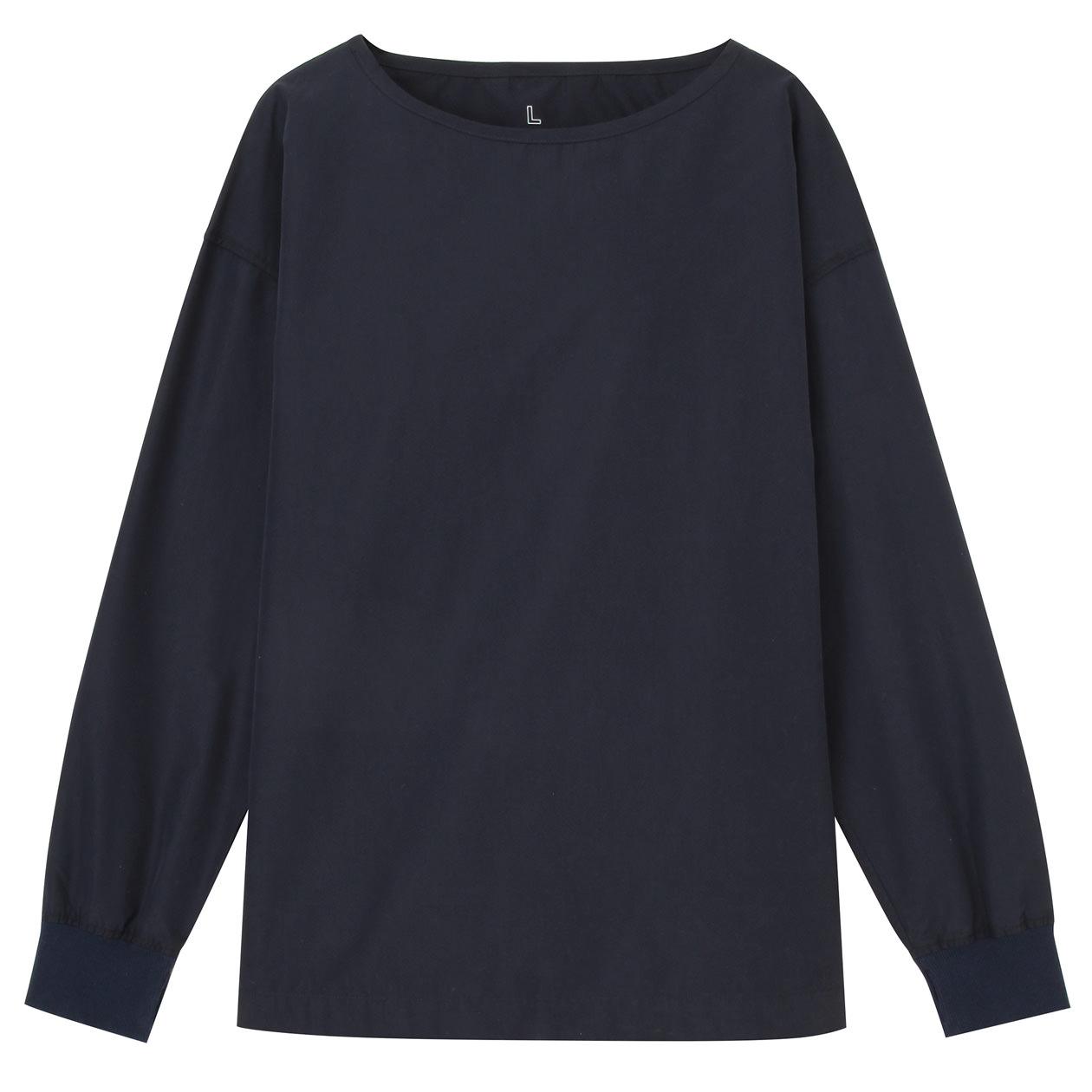 オーガニックコットンボーダードロップショルダーTシャツ(ボートネック) 婦人XS~S・