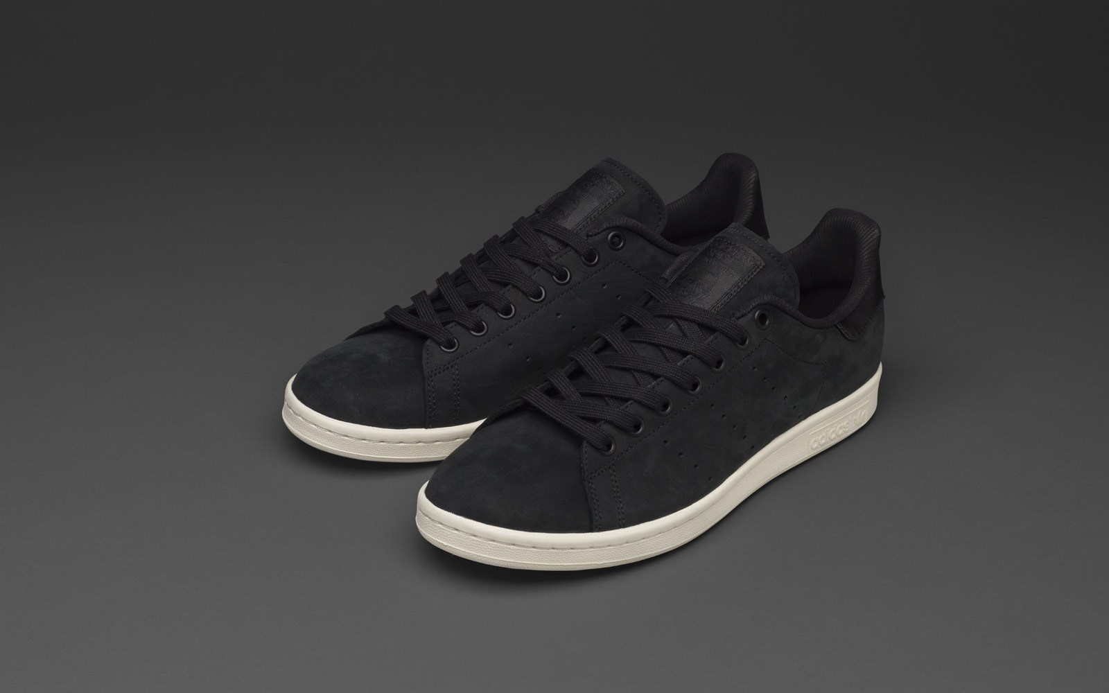 Adidas | adidas Originals Black Nubuck Leather Stan Smith