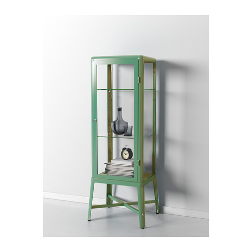 very goods fabrik r glass door cabinet light green ikea. Black Bedroom Furniture Sets. Home Design Ideas