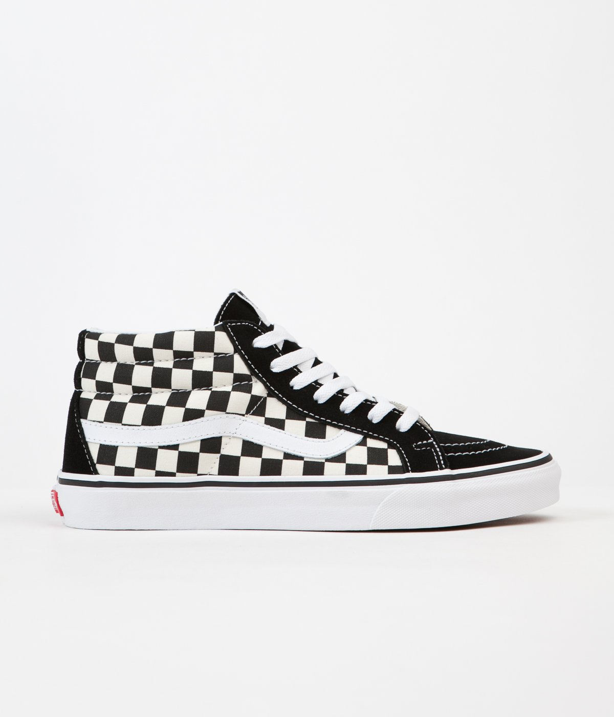 cozy fresh buy best shop for official Vans Sk8-Mid Reissue Shoes - Checkerboard / True White | Flatspot