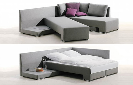 Very Goods | New Twist (u0026 Slide) On Classic Convertible Couch Paradigm |  Designs U0026 Ideas On Dornob