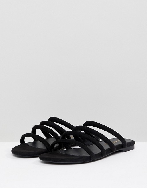 available hot new products unique design Very Goods | Monki | Monki multi strap sandals in Black