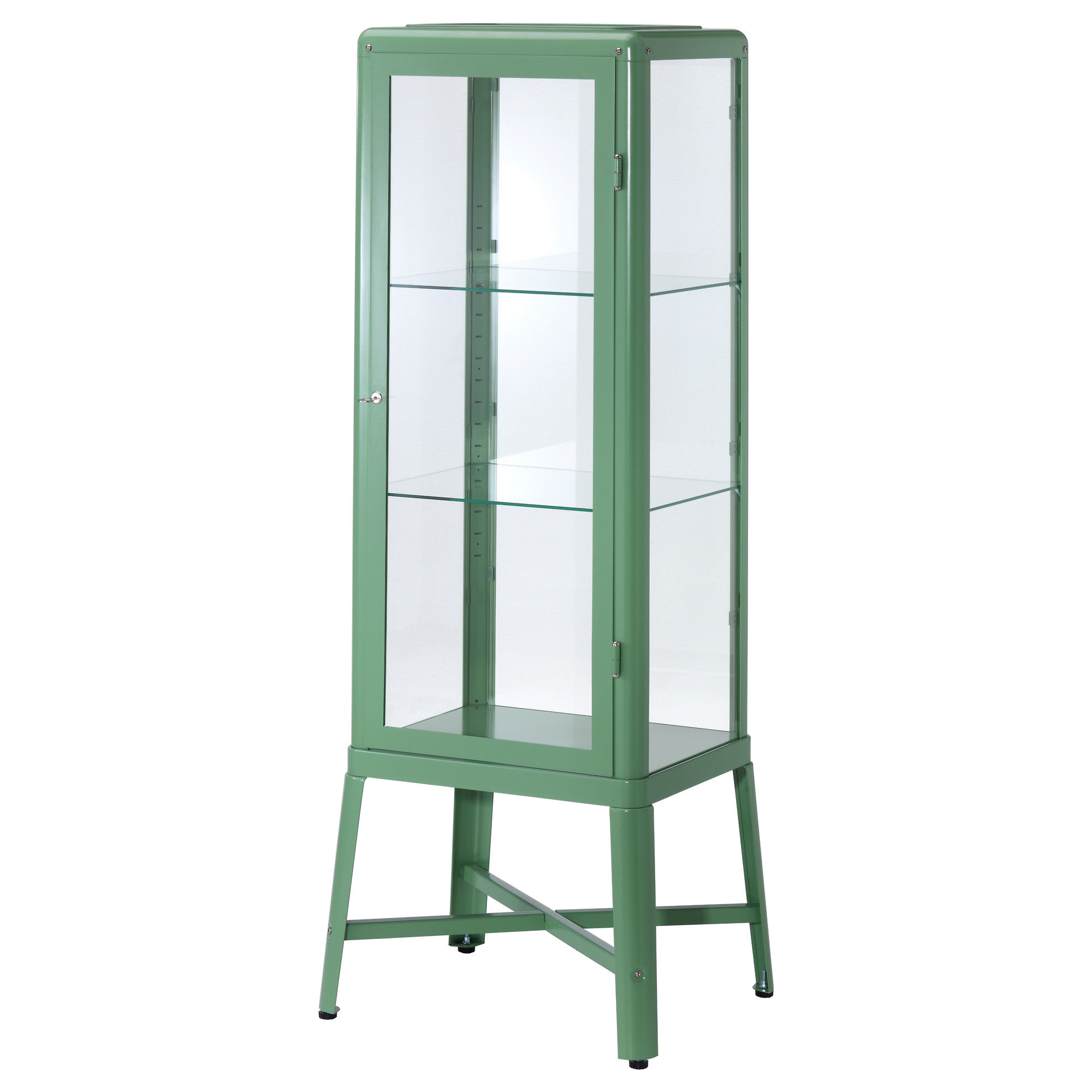 Very Goods FabrikÖr Glass Door Cabinet Light Green Ikea