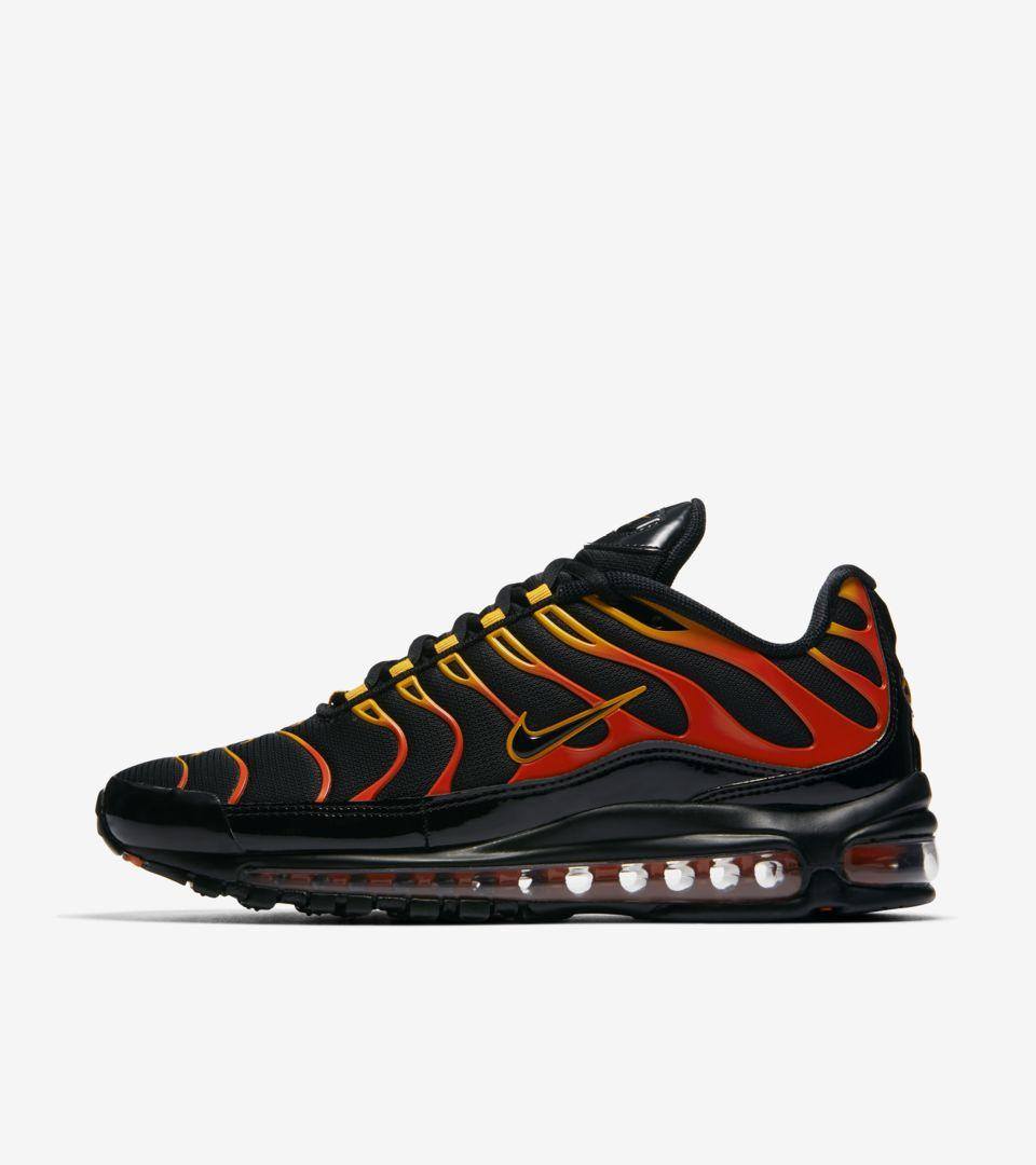Aparentemente Frontera moverse  Very Goods | Nike Air Max 97 / Plus 'Shock Orange & Black' Release Date  Nike+ Launch GB GB