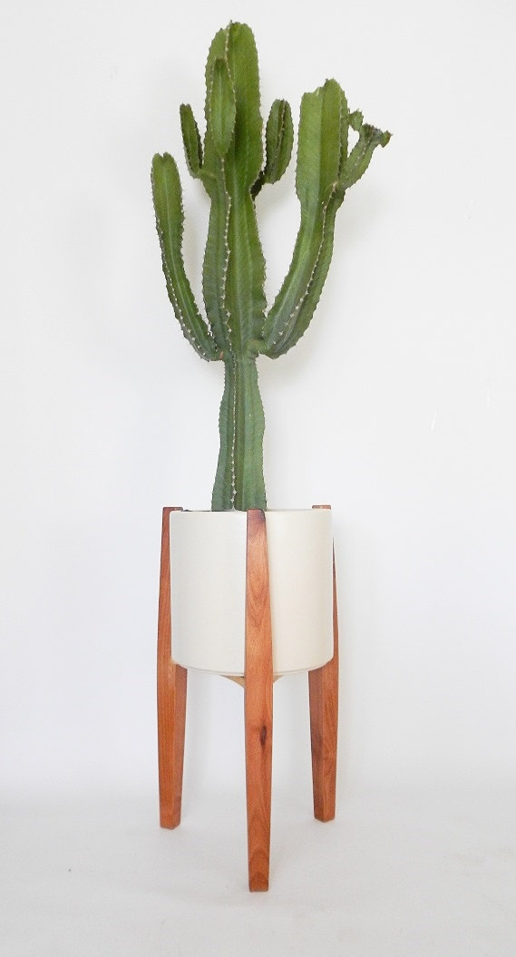 Very Goods Modern Plant Stand Tripod Mid Century Style By