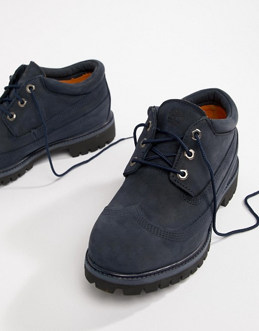 Timberland X Engineered Garments Oxford Brogues In Navy j8FoGua