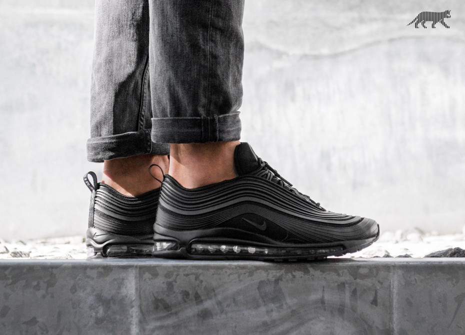 Nike Air Max 97 Ultra '17 PRM (Black Black Anthracite) | asphaltgold