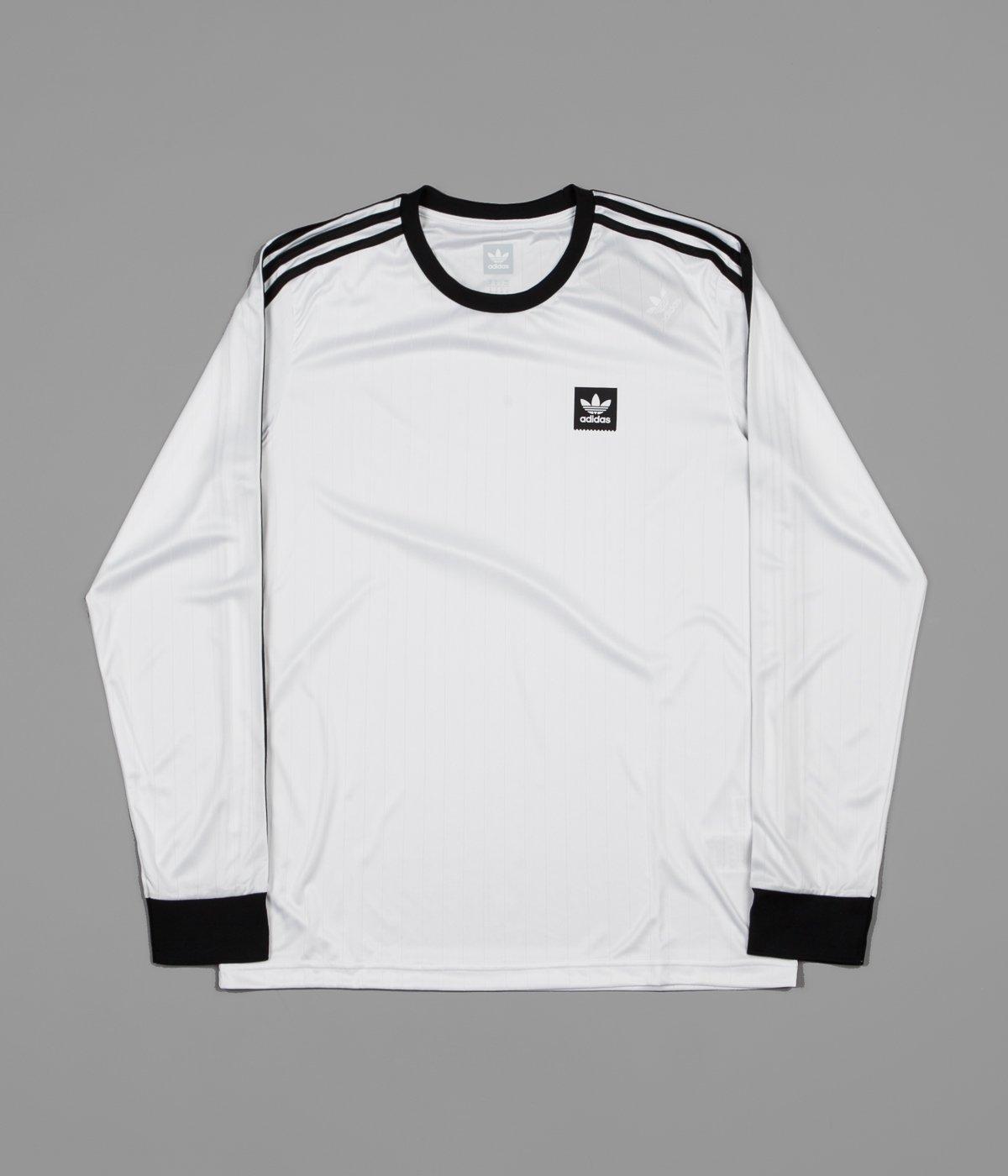 brand new 39f1c d3673 Very Goods   Adidas Club Long Sleeve Jersey - White   Black   Flatspot