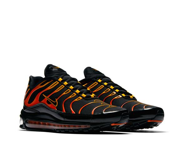 best cheap d35ee 813eb Nike Air Max 97 / Plus Black Shock Orange AH8144-002 - NOIRFONCE