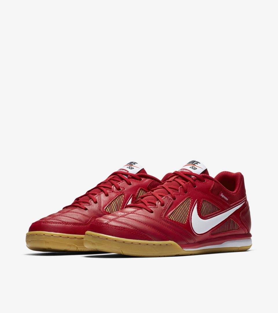b1168bd54a5bc Nike Sb Gato Qs Supreme 'Gym Red & White & Cyber' Release Date. Nike⁠+ SNKRS