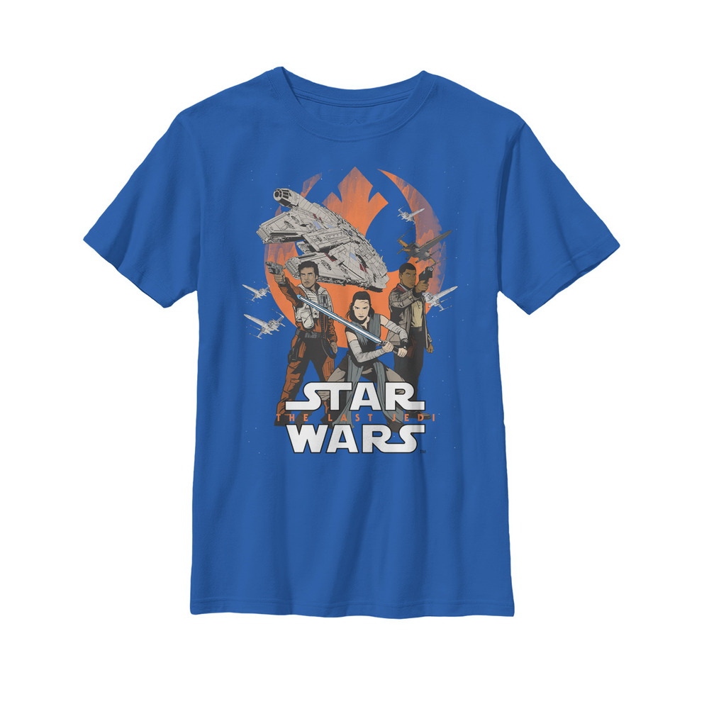 STAR WARS Boys The Last Jedi Rose Tico Brushed T-Shirt 12-13 Years Navy Blue
