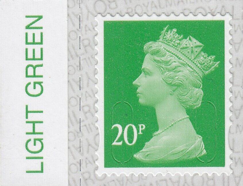 Colour Tab Light Green 20p