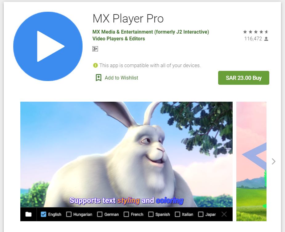 MX Player pro activated