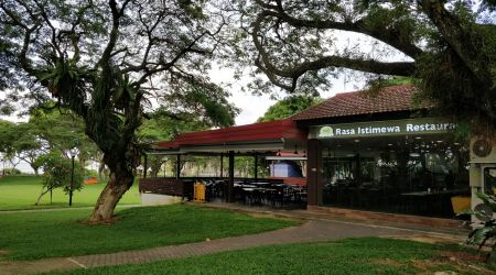 Restaurant in a Park with Seaview