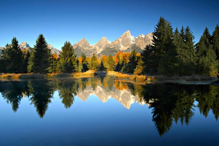 Mountain lake wall murals