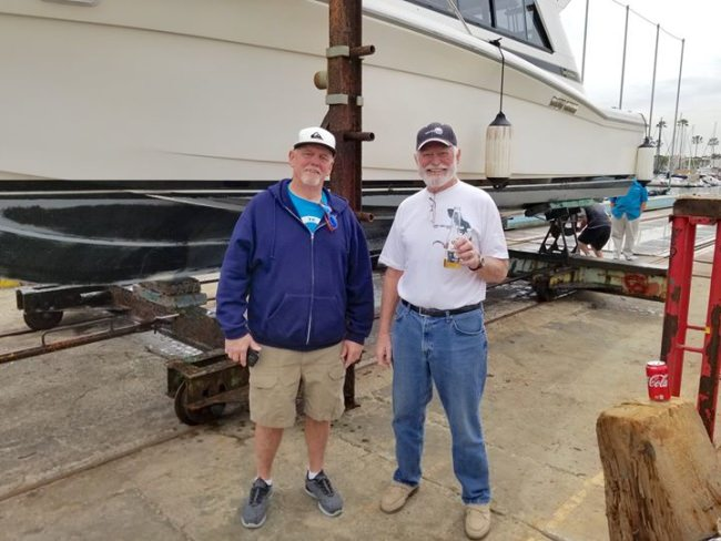 SOLD! Seacoast Yacht Sales represented both buyer (left) & seller (right) in this Riviera 33 deal. Not sure which one is happier!