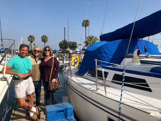 SOLD! This 42' Catalina has happy new owners and is heading down to San Diego!