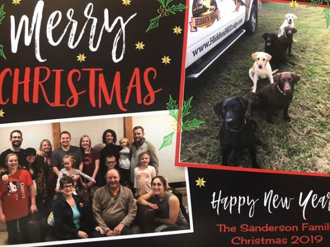 Merry Christmas and Happy New year from the Sanderson's!