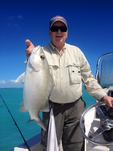 Snapper fishing gas been awsome along with the Spanish Mackeral. Here Bob Rock shows off some beauties