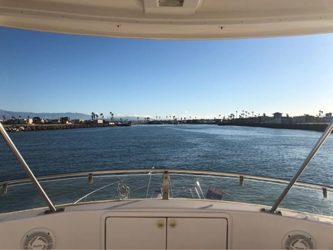 Coming home from a successful sea trial on the Riviera 34 yesterday!