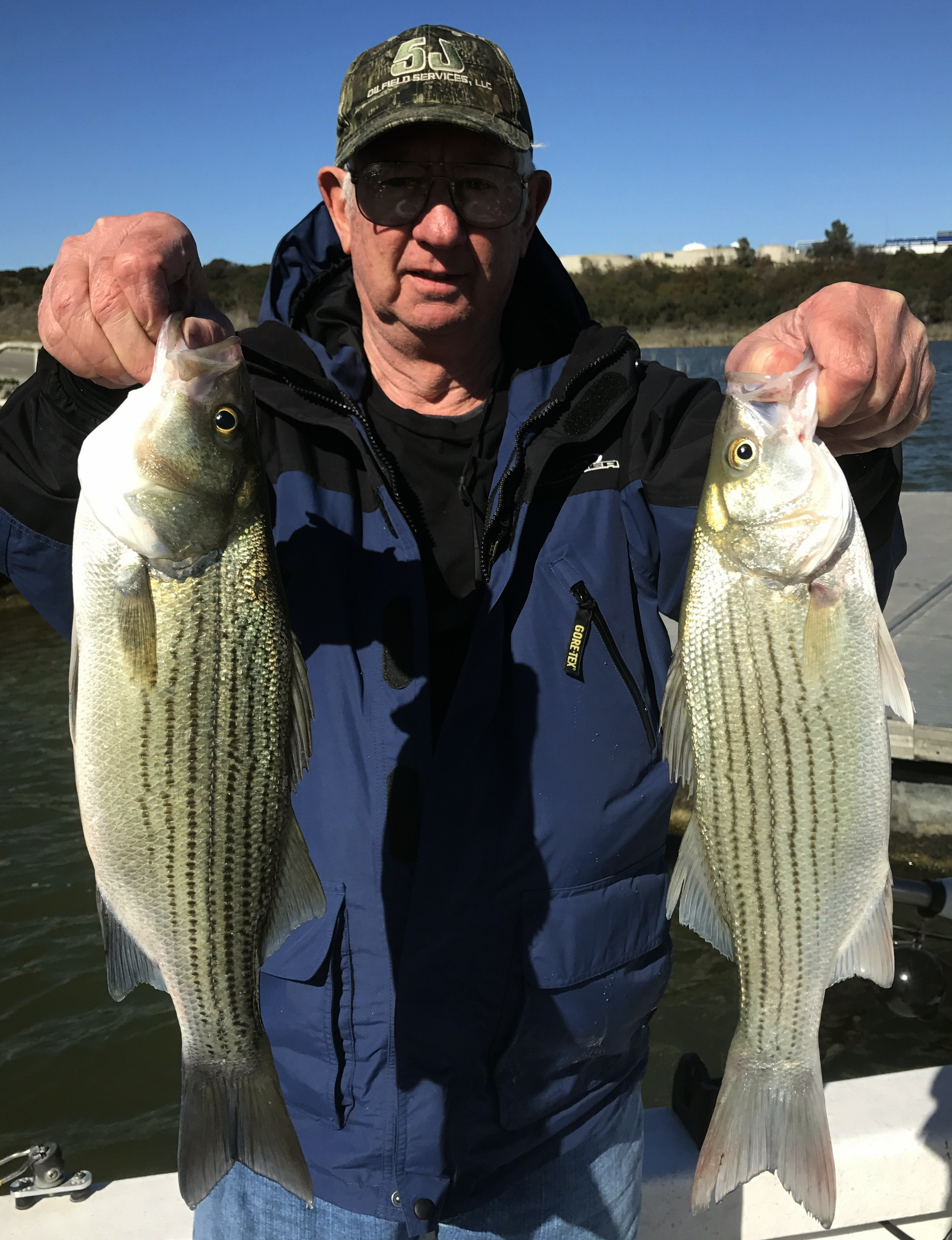 Holding The Line Guide Service: Hybrid Striper Fishing