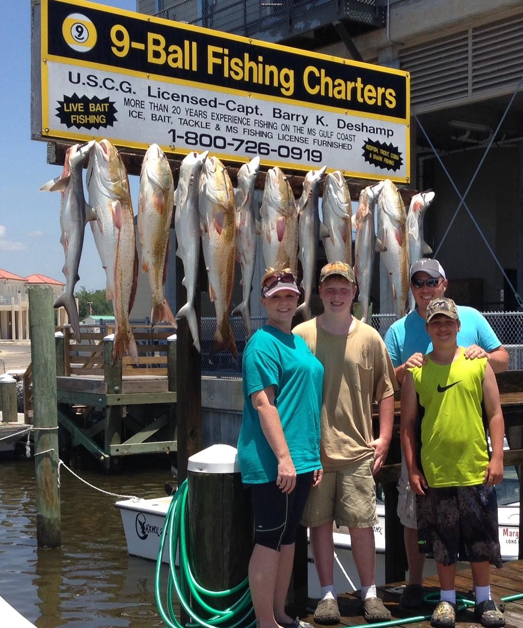 9 Ball Fishing Charters: Mississippi Fishing Charter