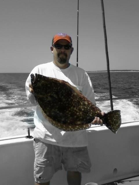 Last Cast Guide Service: Light tackle fluke fishing