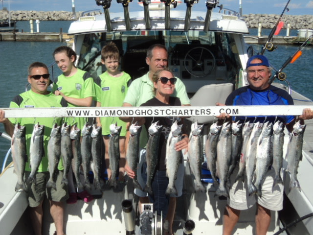Diamond Ghost Charters: Overnight Salmon Fishing Package Two 6 Hour charters