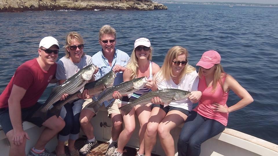 Tuna Hunter Fishing Charters: Striped Bass &/or Bluefish Fishing 1/2 Day
