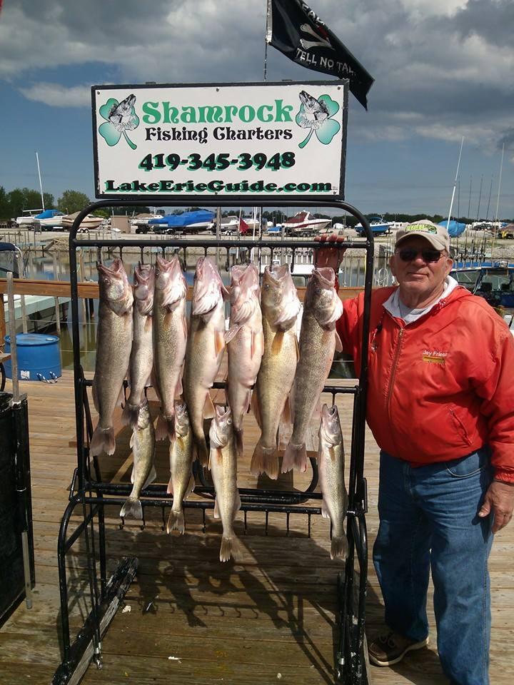 Shamrock Fishing Charters Lake Erie: Walleye Charter #2