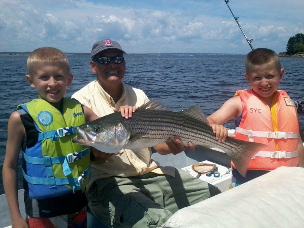 Keeper Charters: inshore striped bass and bluefish trip