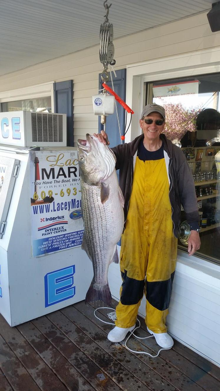 Jersey Shore Beach N Boat Fishing Tournament: 1st Place Striper