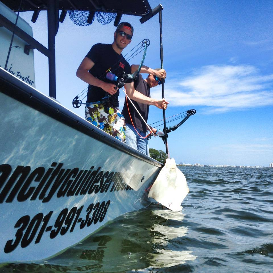 Ocean City Guide Service: Inshore Bowfishing